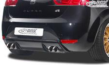 RDX Heckdiffusor SEAT Leon 1P FR / Cupra Heck Ansatz Blende Diffusor Hinten PUR