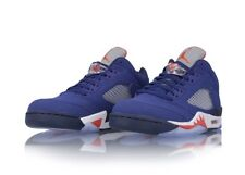 Nike Air Jordan 5 Retro Low 'Knicks' 819171-417 Blue Orange Size UK 9 EU 44 New