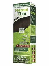 NATURAL BLACK  HERBAL TIME 100% NATURAL COLOURING HENNA CREAM DYE Ready for use