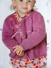 GIRL'S JACKET/CARDIGAN ~ Sizes 22-26 ins ~ Knitting Pattern ~ NEW