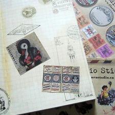 10X Retro Film Sticker Scrapbook Deco Paper Poster Check Sticker Label