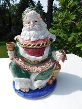 FITZ AND FLOYD 1993 CHRISTMAS CAROL GHOST OF CHRISMAS BISCUIT-COOKIE JAR  RARE!