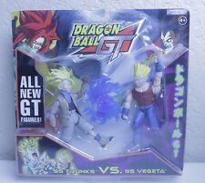 Dragon Ball GT SS Trunks Vs SS Vegeta Double Action Figure *Rare