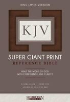 KJV Super Giant Print Reference Bible, flexisoft brown