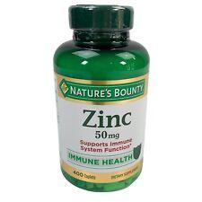 Nature's Bounty ZINC 50mg Vitamin Immune Health Supplement 400 Count Caplets