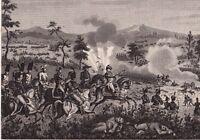 Gravure XIXe Bataille de MARENGO Campagne d'Italie Napoléon Bonaparte 1837