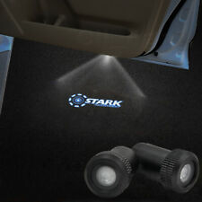 2x Stark Industries Logo Car Led Laser Projector Lamp Door Welcome Shadow Light