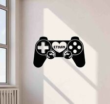Personalized Gaming Wall Decal Video Gamer Gift Vinyl Sticker Game Poster 669