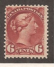 Canada   Sc# 43   MH   6c Red Brown   Cat Val $240