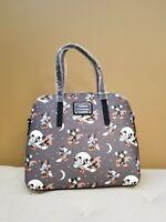 Loungefly Disney Halloween Mickey and Minnie Mouse Grey Handbag NEW