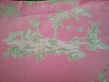 French Toile Pillow Sham Case Pottery Barn Teen Pink Green