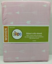 Baby Nursery Fitted Cotton Woven Pink Crib Sheet by Circo/Target 100% Cotton