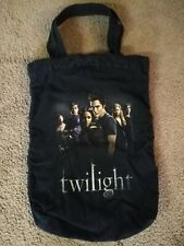 Twilight Movie Tote Canvas Bag Promotional Black w/ Cast Graphic - Rare Version!