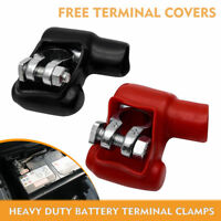 RED & BLACK  COVER BATTERY TERMINAL HEAVY DUTY MARINE TYPE LEAD BATTERY CLAMPS