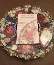 Complete 5pc Glynda Turley by Bradford Exchange Eternal Beauty Floral Wreath New