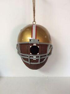 Evergreen Official NFL San Francisco 49ers Football Helmet Birdhouse