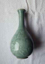 Korean Goryeo celadon Flower inlay Shapely FLOWER VASE, Antique