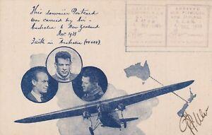 AFC377) Australia 1933 Australia New - Zealand  3rd Dec. 1933 unstamped Special