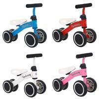 Three Wheel Kids Balance Bike No Pedal Bicycle Ride Push Toy for Baby & Children