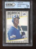 Ken Griffey Jr. RC 1989 Fleer #548 Mariners HOF Rookie GEM MINT 10