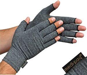 Anti Arthritis Compression Gloves Fingerless Support Rheumatoid Hand Pain Relief