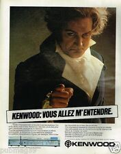 Publicité advertising 1981 Hi-Fi Ampli Kenwood