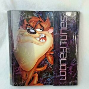 "Vintage Binder Taz Looney Tunes Stuart Hall 1 1/2"" Metal 3 Ring Warner Brothers"