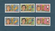 Guinée république  coupe du monde de football 1986  num : 808/10  D et  ND **
