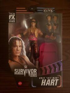 WWE Mattel Bret Hitman Hart Elite series figure . SEE DESCRIPTION.
