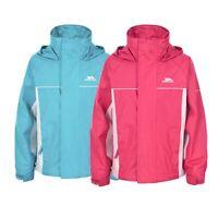 Trespass Sooki Girls Waterproof Jacket Kids Pink Blue School Raincoat