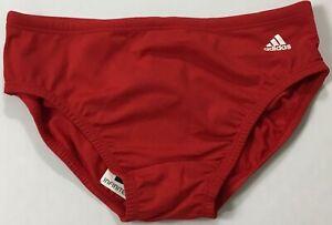 Adidas Men InfiniteX Plus Solid Swim Brief AMX8621 Red Size 30