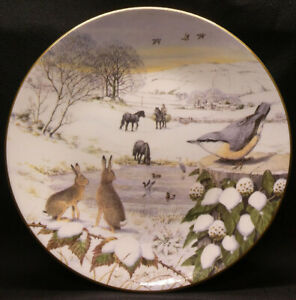 Snowy Dale plate by Peter Barrett from All Creatures Great & Small Series