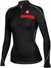 Castelli Visione Women's Long Sleeve Fleece Cycling Jersey Black