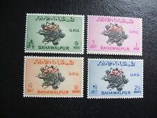 Bahawalpur 1949 Scott O25-O28 75th Anniv of UPU Official Overprint. Mint Hinged
