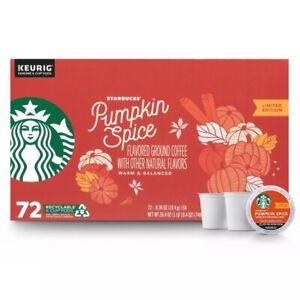 Starbucks Pumpkin Spice Coffee K-Cups (72 CT) BACK BY POPULAR DEMAND!!