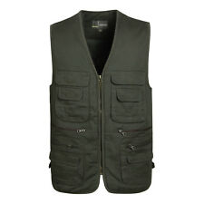 2018 Men's winter multi-pocket photography warm Add Cotton thick waistcoat vest