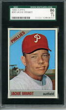 1966 Topps # 383 Jackie Brandt Phillies SGC Graded card 86 = 7.5