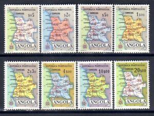 Angola sc#386-393 (1955) Map of Angola full set OG MNH**