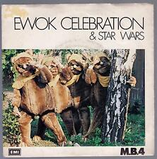 M.B.4 DISCO 45 GIRI EWOK CELEBRATION & STAR WARS B7w DO DO PHONE ME - ITA EMI