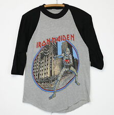 Iron Maiden Shirt Vintage tshirt 1985 Eddie Luvs Noo Yawk Tour Metal Band NYC
