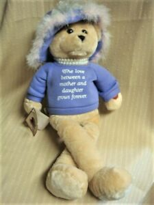 """19"""" Animated CHANTILLY LANE Pearls Wisdom Bear Sings That's What Friends Are For"""