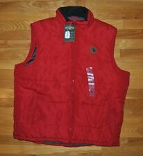 NWT MENS FIELD & STREAM Red Puffer Polyfill Vest Sherpa Lined Neck Sz Medium M