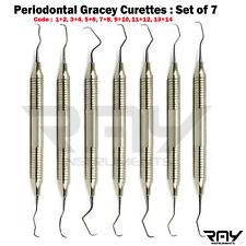 Dental Gracey Curettes Periodontal Calculus Root Planning Oral Surgery Surgical
