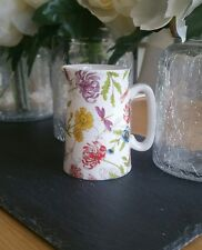 Bone China Half Pint Jug Flower Floral Pattern Hand Decorated in Wales Gift Idea