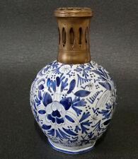 Ancienne Lampe Berger à décor orientalisant de fleurs et d'oiseaux