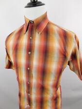 JOS A BANK Men's Short Sleeve Button Down Dress Shirt sz Medium M Cotton Striped