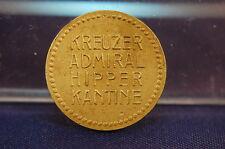 10 Pfennig nave denaro incrociatore ammiraglio Hipper SS-VZ