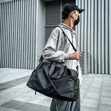 Sports Shoulder Bags Gym Fitness Training Waterproof Handbag Travel Duffle Black