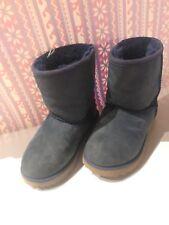 UGG 5251 Kids Boys Classic Short Shearling Boots, Navy Blue, Waterproof, Size 11