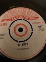 DR KITCH Jump Up 45, SKA REGGAE ORIG RECORD RARE VINYL, Lord Kitchener